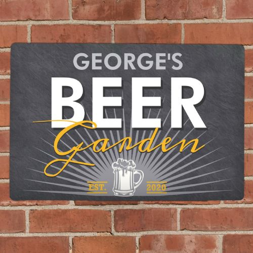 Beer Garden Metal Sign